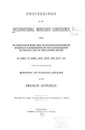 Proceedings of the International Monetary Conference