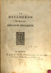 Il Decameron: testo del 1527