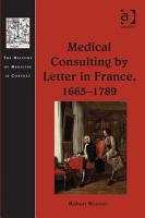 Medical Consulting by Letter in France  1665   1789 PDF