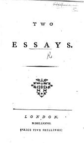 Two Essays. [By David Hume.]
