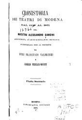 Cronistoria dei teatri di Moderna dal 1539 al 1871: Volume 2