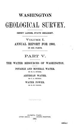 The Water Resources of Washington PDF