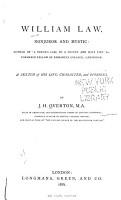 William Law  Nonjuror and Mystic PDF