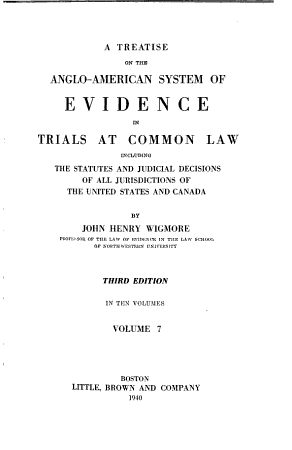 A Treatise on the Anglo American System of Evidence in Trials at Common Law PDF