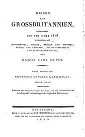 Reisen nach Grossbritannien... 1816...: abth. Landmacht. 1. th. Organisation des herres