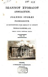 Joannis Stobaei Florilegium