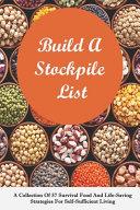 Build A Stockpile List