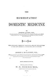 The Homoeopathic Domestic Medicine