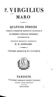 P. Virgilius Maro: Indices, Volume8