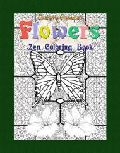 Flowers: Zen Coloring Book