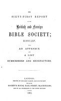 Report of the British and Foreign Bible Society PDF