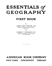 Essentials of Geography: First[-second] Book, Book 1