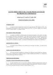 Lignes directrices pour les essais de produits chimiques / Section 1: Propriétés Physico-Chimiques Essai n° 109: Densité des liquides et des solides