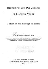 Repetition and Parallelism in English Verse