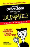 Microsoft Office 2000 for Windows For Dummies PDF