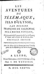 Les Aventures de Télémaque, fils d'Ulysse: Volume1