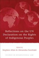 Reflections on the UN Declaration on the Rights of Indigenous Peoples PDF