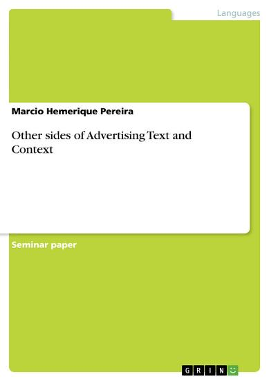 Other sides of Advertising Text and Context PDF