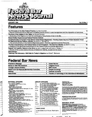 Federal Bar News   Journal PDF