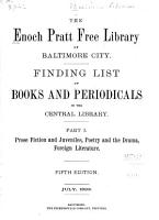 Finding List of Books and Periodicals in the Central Library     PDF