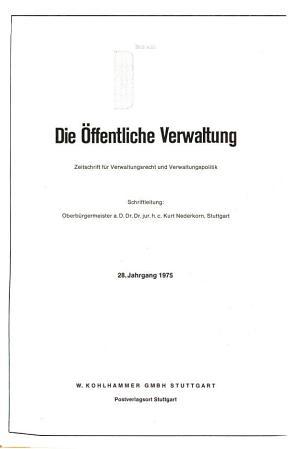 Die   ffentliche Verwaltung PDF