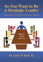 So You Want to Be a Strategic Leader PDF