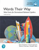 Words Their Way Word Sorts for Derivational Relations Spellers  Global Edition
