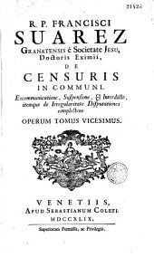 Francisci Svarez... Opera varia...