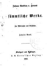 Johann Gottfried v. Herder's sämmtliche Werke in vierzig Bänden: Bände 35-36