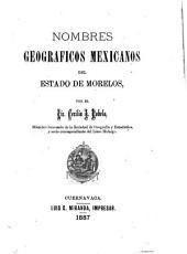 Nombres geográficos mexicanos del estado de Morelos
