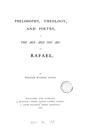 Philosophy  theology and poetry in the age and the art of Rafael