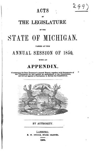 Download Public and Local Acts of the Legislature of the State of Michigan Book