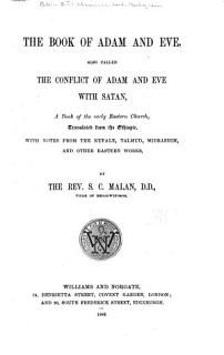The Book of Adam and Eve  Also Called the Conflict of Adam and Eve with Satan Book