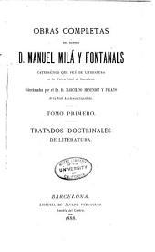 Obras completas del doctor d. Manuel Milá Fontanals ...