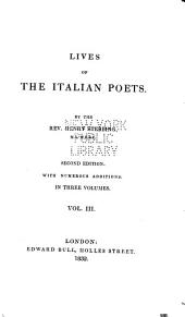 Lives of the Italian Poets: Volume 3