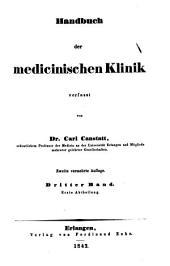 Die specielle Pathologie und Therapie: vom klinischen Standpunkte aus bearbeitet, Band 3