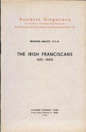 The Irish Franciscans, 1651-1665
