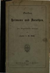 Hermann und Dorothea: Ins Altgriechische übersetzt von A. Dühr