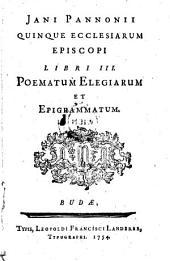 Libri III. Poematum, Elegiarum et Epigrammatum