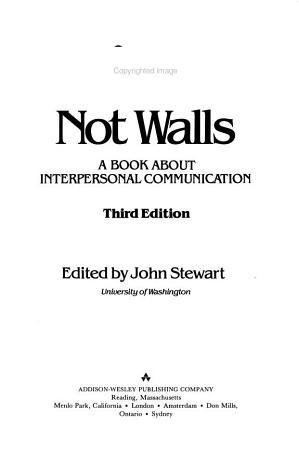Bridges Not Walls PDF