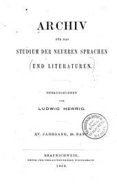 Archiv für das Studium der neueren Sprachen und Literaturen: Band 28