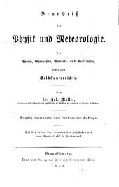 Grundriss der physik und meteorologie: Für lyceen, gymnasien, gewerbe- und realschulen, sowie zum selbstunterrichte, Band 3