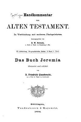 G  ttinger Handkommentar zum Alten Testament PDF