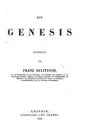 Die Genesis ausgelegt   Einleitung und Commentar zur Genesis    PDF