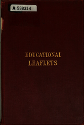 Educational Leaflets: Volumes 1-12