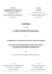 Rapport de l'office parlementaire d'évaluation des choix scientifiques et technologiques sur les drones et la sécurité des installations nucléaires: Compte rendu restreint de l'audition du 24 novembre 2014 à 14 heures, compte rendu de l'audition publique ce même jour à 16 h 30 et présentation des conclusions le 26 novembre 2014