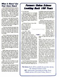 National Farmers Union News