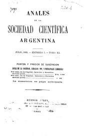Anales de la Sociedad Científica Argentina: Volúmenes 1-40