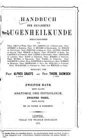 Handbuch der gesammten Augenheilkunde: Band 2,Ausgabe 1