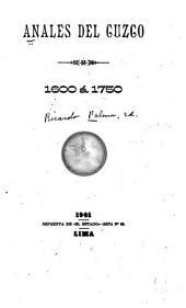 Anales del Cuzco, 1600 á 1750